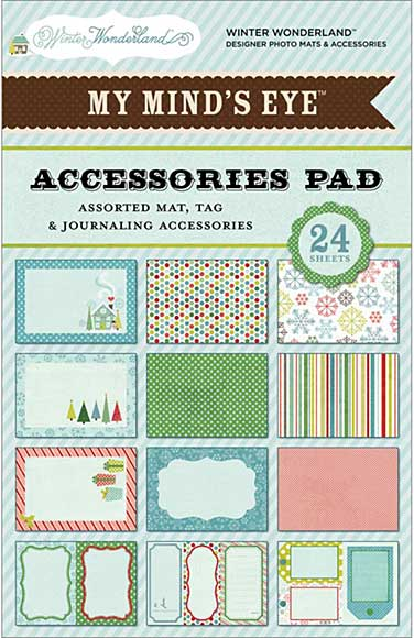 Mme Winter Wonderland Accessories Pad 4x6 24 Sheets