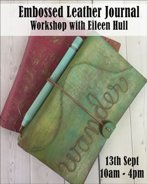 Eileen Hull Embossed Leather Journal UK Papertrail tour