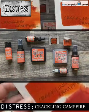 New Colour - Tim Holtz Distress Inks and Oxides, Cracking Campfire, September 2020