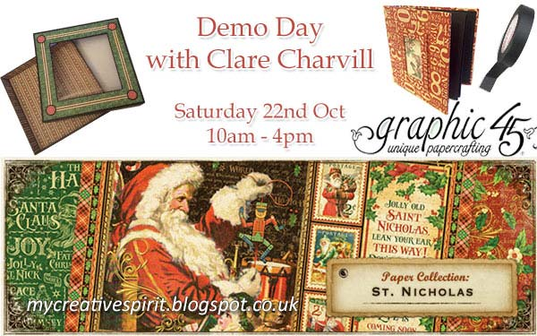 Free Demo Day with Clare Charvile at Sir Stampalot Peterborough