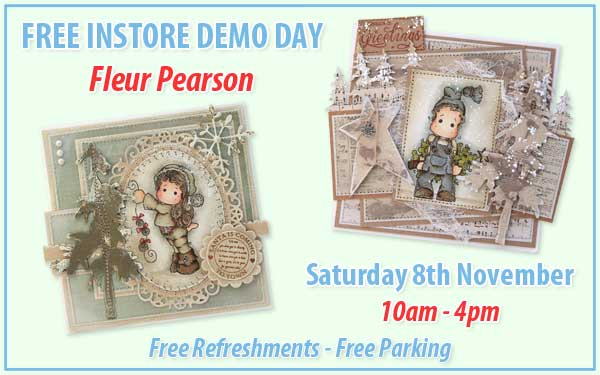 Demo day with Fleur on Saturday 8th November at Sir Stampalot Peterborough