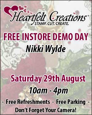 Free Heartfelt Creations Demoday at Sir Stampalot with Nikki Wylde