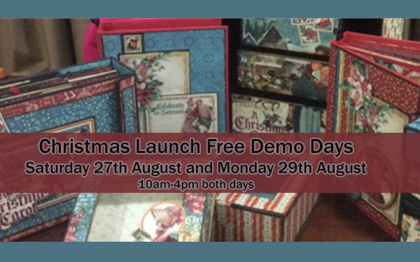 August Bank Holiday Weekend Demos with Claire Charville and Chris Scott