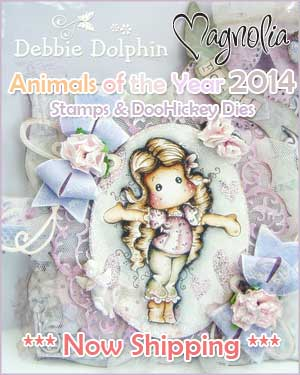Magnolia Animals Collection - Card by Debbie Dolphin