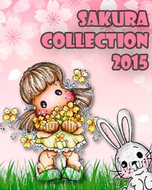 Magnolia Sakura Collection Stamps and Dies