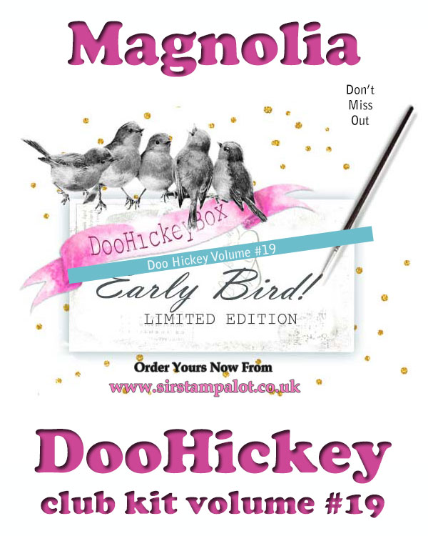 Magnolia DooHickey Die Cutting Collectors Club Magazine and Die