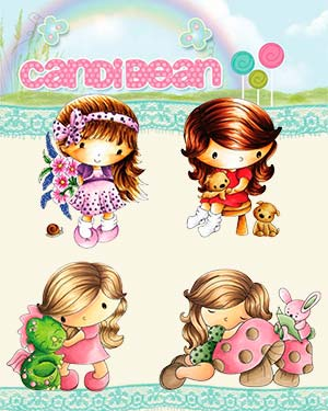 New Candibean and Little Darlings Stamps