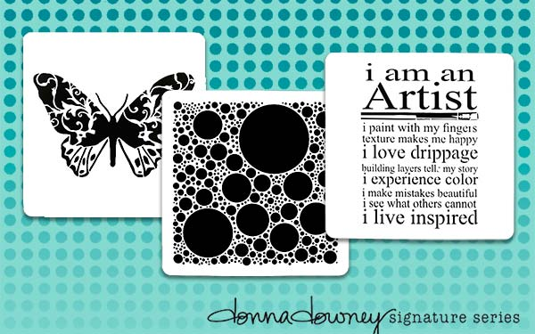 Pre-order Donna Downey Signature Stencils, Shipping June