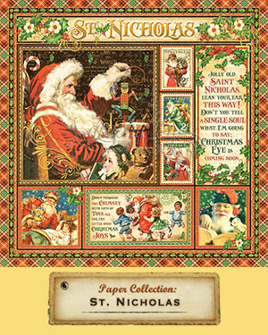 Graphic 45 Papers and Stamps, St. Nicholas Collection 2016