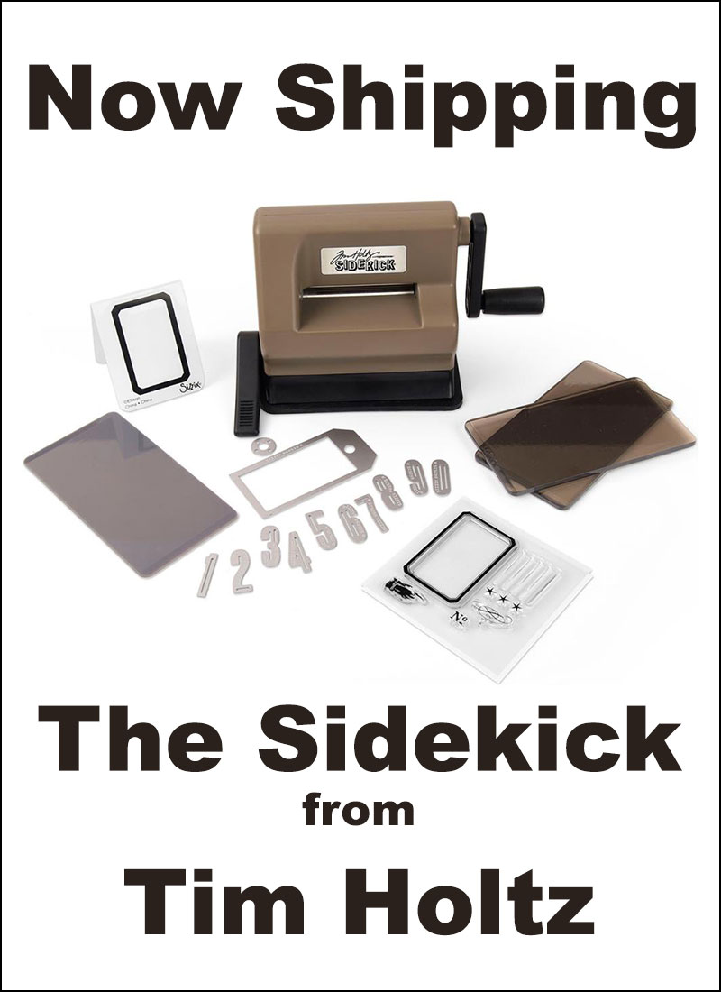 New Tim Holtz Sizzix Sidekick - portable die cutting system