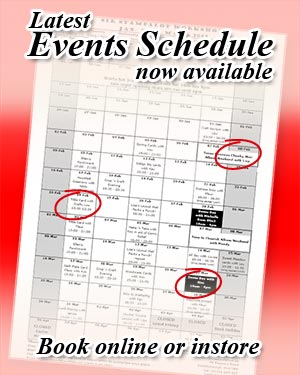 Event Schedule and Class Bookings for December, January, February and March at Sir Stampalot