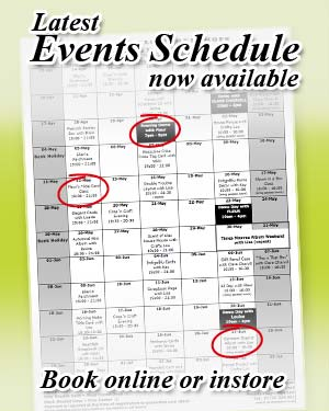 Event Schedule and Class Bookings for October , November, December at Sir Stampalot