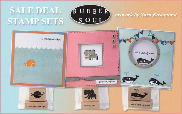 Rubber Soul Wood Mounted Stamp Sets