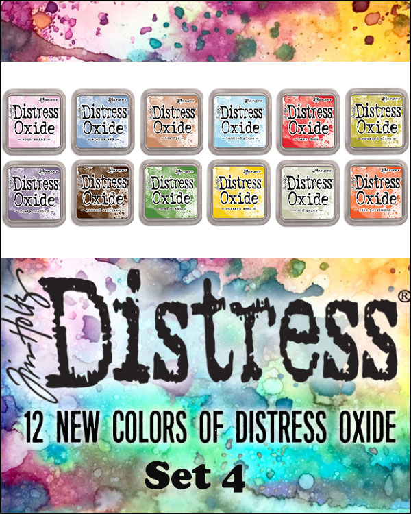 Tim Holtz New Oxide Inkpad Colours - July 2018