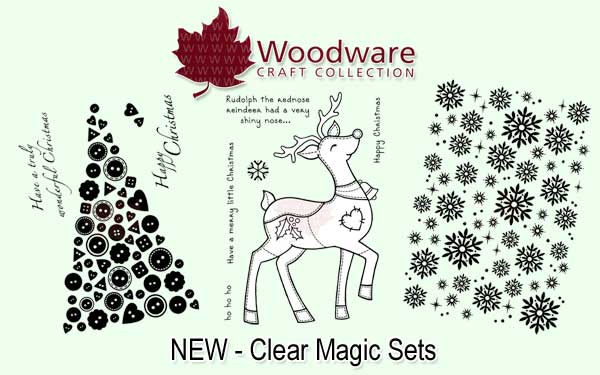 Woodware Christmas Stamps 2013